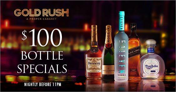 GoldRush Cabaret Miami 100-dollar bottles before 11p